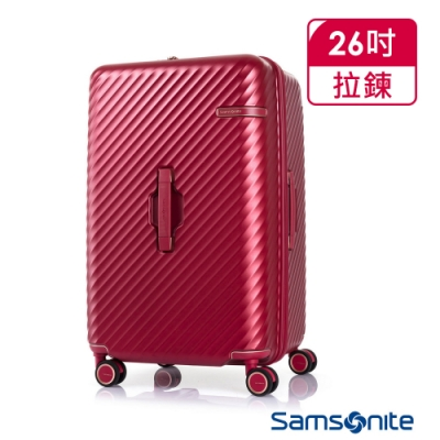 Samsonite新秀麗 26吋 Stem 2/8 開闔PC抗震雙輪SPORT運動箱(紅)