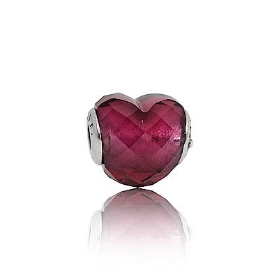 Pandora 潘朵拉 Essence系列愛心紅色水晶 純銀墜飾 串珠