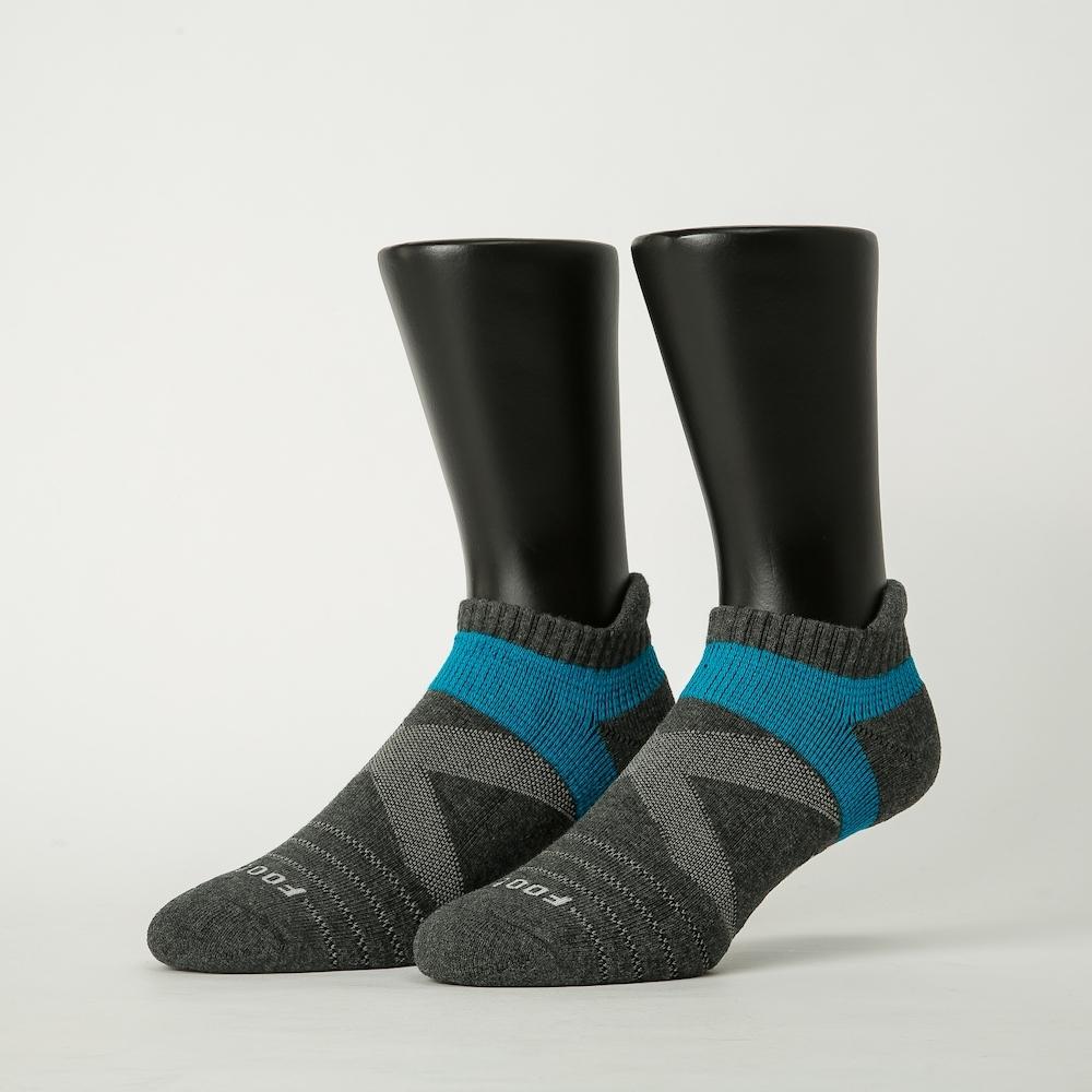 Footer除臭襪-X型雙向減壓足弓船短襪-六雙入(深灰*2+深藍*2+紅*2)