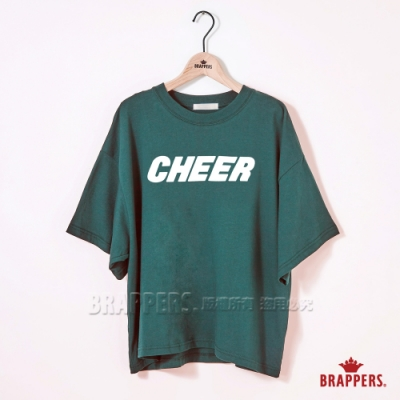 BRAPPERS 女款 CHEER印花寬T-綠