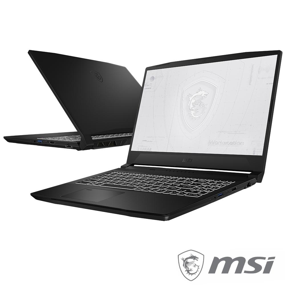 MSI微星 WF66 11UI-482TW 15.6吋工作站繪圖筆電(i7-11800H/T1200 4G獨顯/16G+16G/1TB PCIe SSD/Win10 Pro/特仕版)
