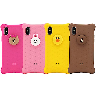GARMMA LINE FRIENDS iPhone Xs Max 四角氣囊果凍套