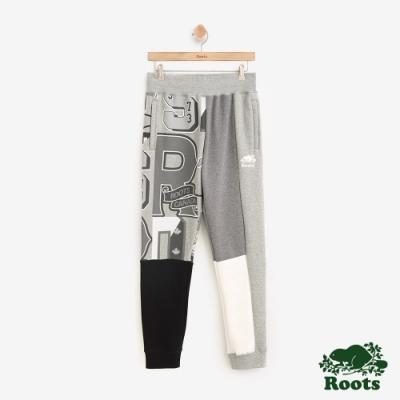 男裝ROOTS 周年系列學院刷毛棉質長褲-灰色