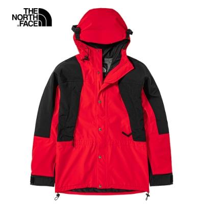 【經典ICON】The North Face北面男女款紅色防水透氣連帽衝鋒衣|4R52R15