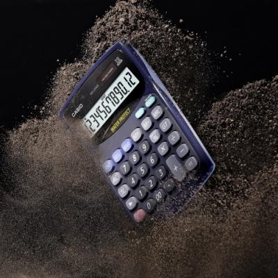 CASIO卡西歐-12位數防水防塵商用計算機(WD-220MS-BU)