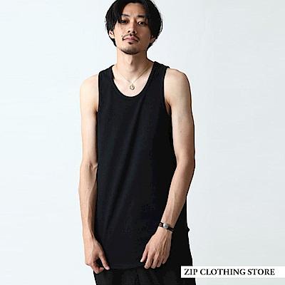 百搭素色長版坦克背心-4色-ZIP日本男裝