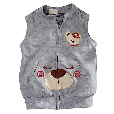 小熊薄背心外套 灰 k60762 魔法Baby