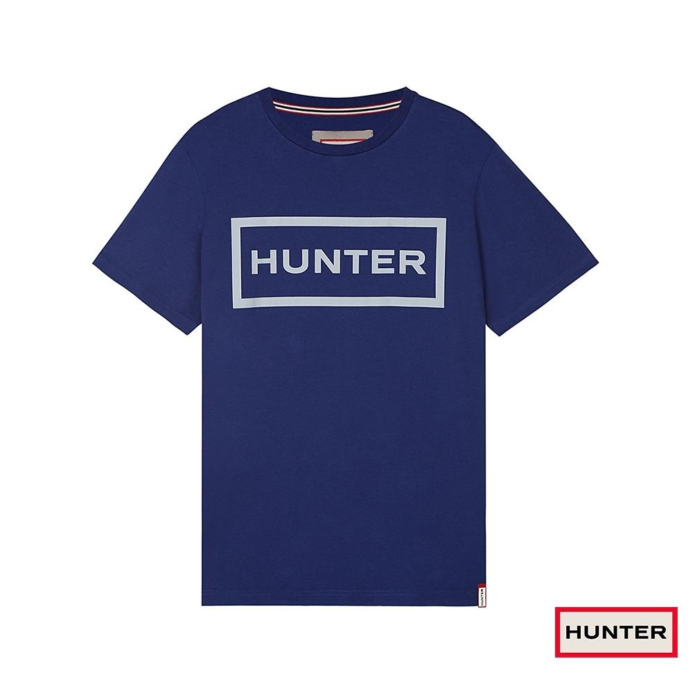 HUNTER - 男裝 - 經典LOGO短袖上衣 - 深藍
