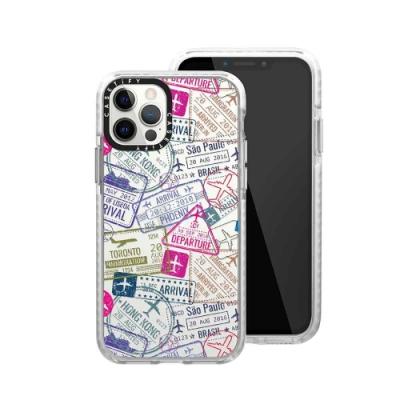 Casetify iPhone 12/12 Pro 耐衝擊保護殼-旅遊印章