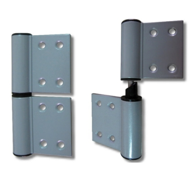 4英吋 自動歸位鉸鏈/鋁製插心後鈕/旗型鉸鏈 HA42405 直線微調型