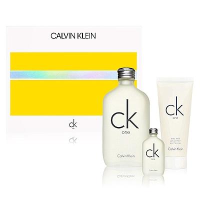 *CalvinKlein CK one香水禮盒(淡香水+沐浴膠100ml+淡香水15ml)