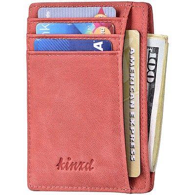 《Kinzd》防盜證件卡夾(玫瑰色)