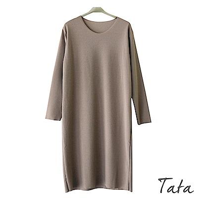 圓領素面雪紡洋裝 TATA