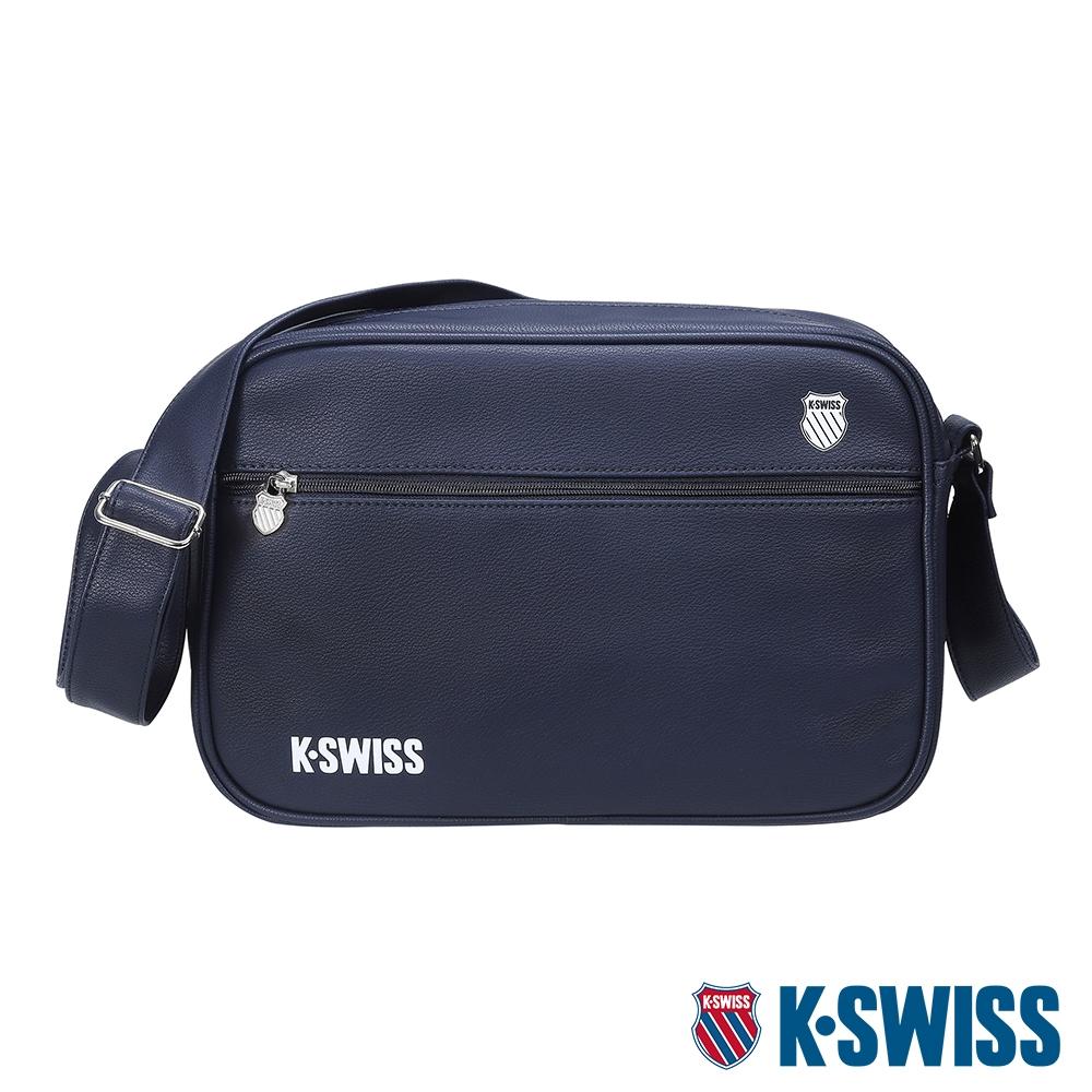 K-SWISS CT LEATHER BAG SMALL 2皮革側背包(小)-深藍