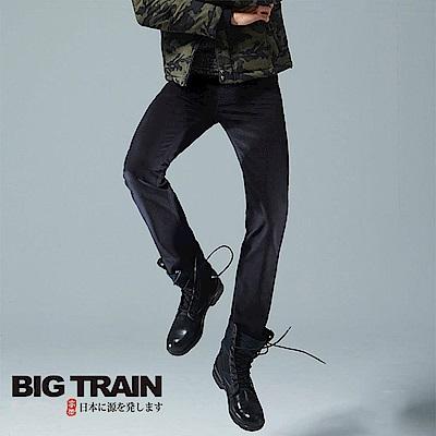 BigTrain 黯黑家徽小直筒褲-男-黑