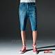 BRAPPERS 男款 HG-高腰系列-彈性牛仔休閒五分褲-藍 product thumbnail 1