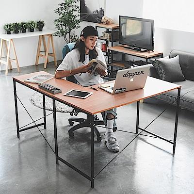 [時時樂限定] Home Feeling L型工作桌/電腦桌/書桌(2色)
