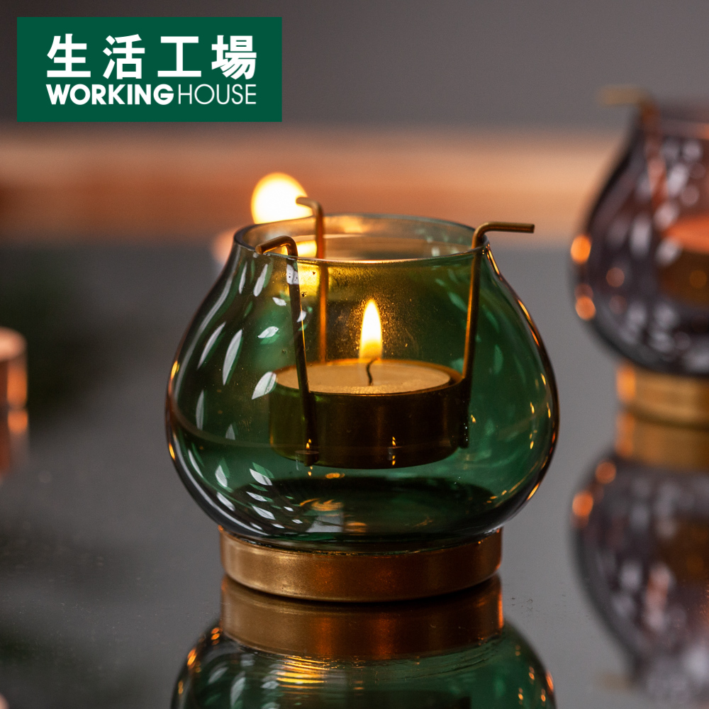 【倒數6%回饋再折100-生活工場】Royal古典小燭杯-綠