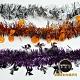 摩達客 萬聖節派對佈置裝飾 錫箔南瓜骷髏巫婆拉花拉條(橘紫黑三入組) product thumbnail 1