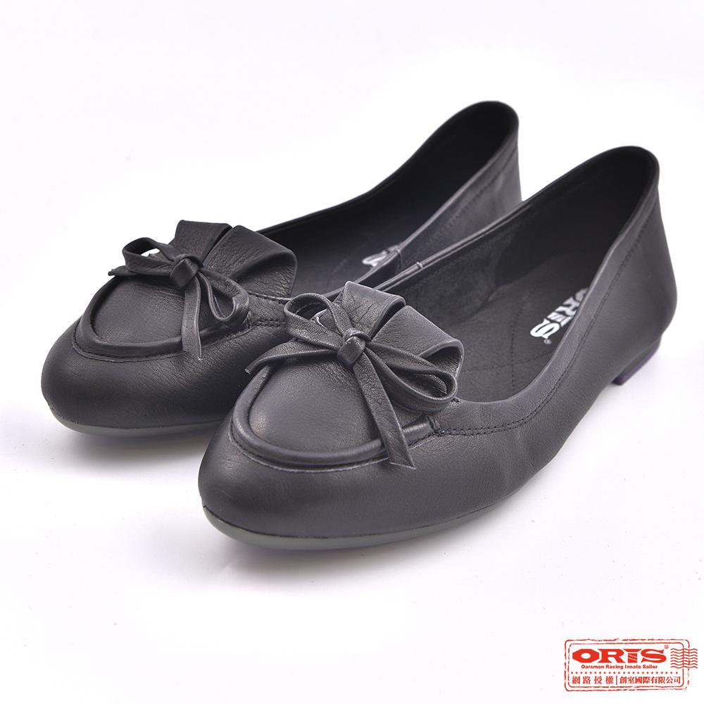 ORIS 女款 柔軟真皮 娃娃鞋 休閒懶人鞋SA17696N01