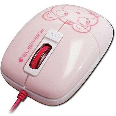 ELEPHANT可愛小熊造型 GR藍光雷射滑鼠 (WEM1020PK) 粉紅色