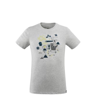 MILLET 男 F. ELVIRA LIMITED 短袖快排T恤 灰-MIV86694809