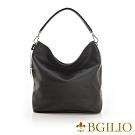 義大利BGilio-率性都會質感牛皮肩背包-自信黑 2111.003-05