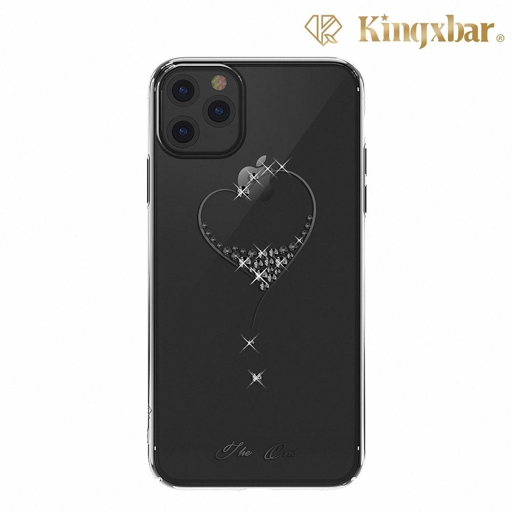 Kingxbar iPhone 11 Pro Max施華彩鑽水鑽手機殼-鋼琴黑