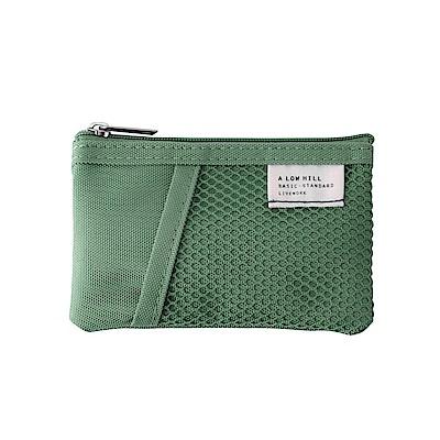 Livework 休閒風雙層對摺票卡零錢包V2-薄荷綠