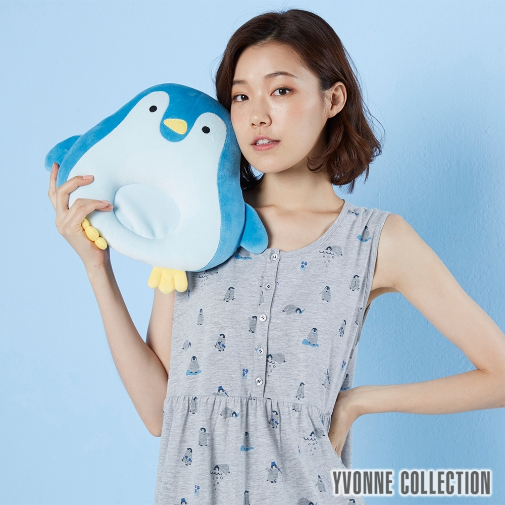 Yvonne Collection 企鵝午安枕-水藍