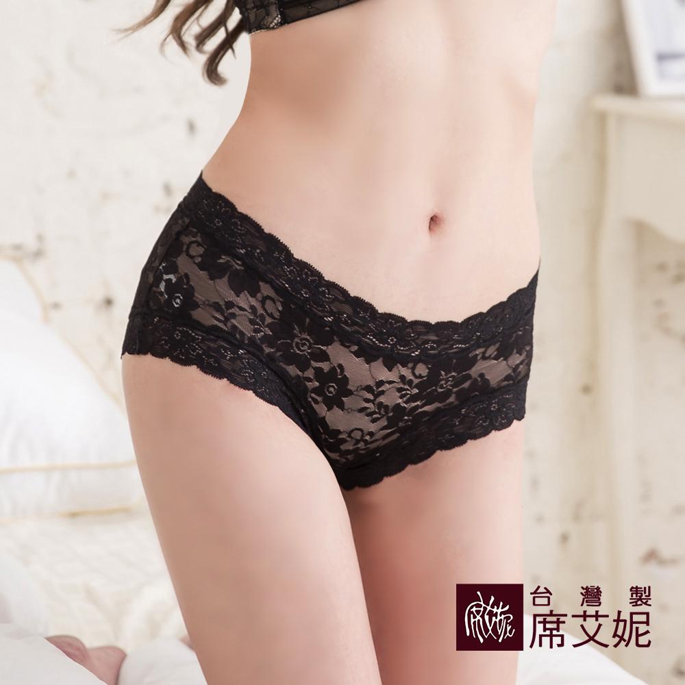 席艾妮SHIANEY 台灣製造(5件組)中腰浪漫蕾絲雕花內褲 柔軟蕾絲 舒適 透氣 不刺激