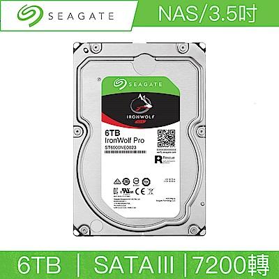 Seagate希捷 那嘶狼 Pro 6TB 3.5吋 SATAIII 7200轉NAS專用硬碟(ST6000NE0023)
