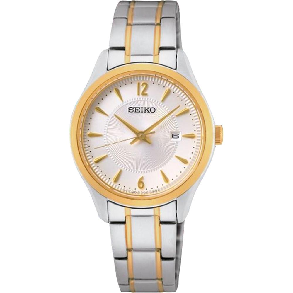 SEIKO精工CS石英簡約藍寶石玻璃女錶29.9mm(SUR474P1/6N22-00N0KS)情侶錶 對錶 女款