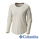 Columbia 哥倫比亞 女-防曬UPF30快排長袖上衣-米白