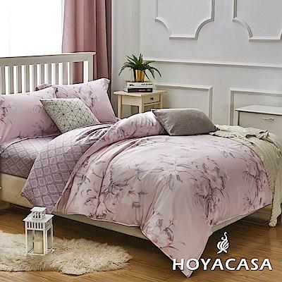 HOYACASA影奈 雙人四件式天絲柔棉兩用被床包組