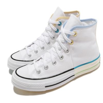 Converse 休閒鞋 All Star 高筒 穿搭 男女鞋 基本款 簡約 情侶鞋 帆布 鴛鴦 米白 藍 171179C