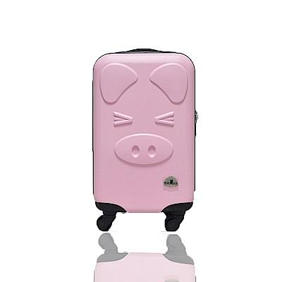 BEAR BOX 三隻小豬之豬事如意系列20吋/輕硬殼行李箱-粉紅