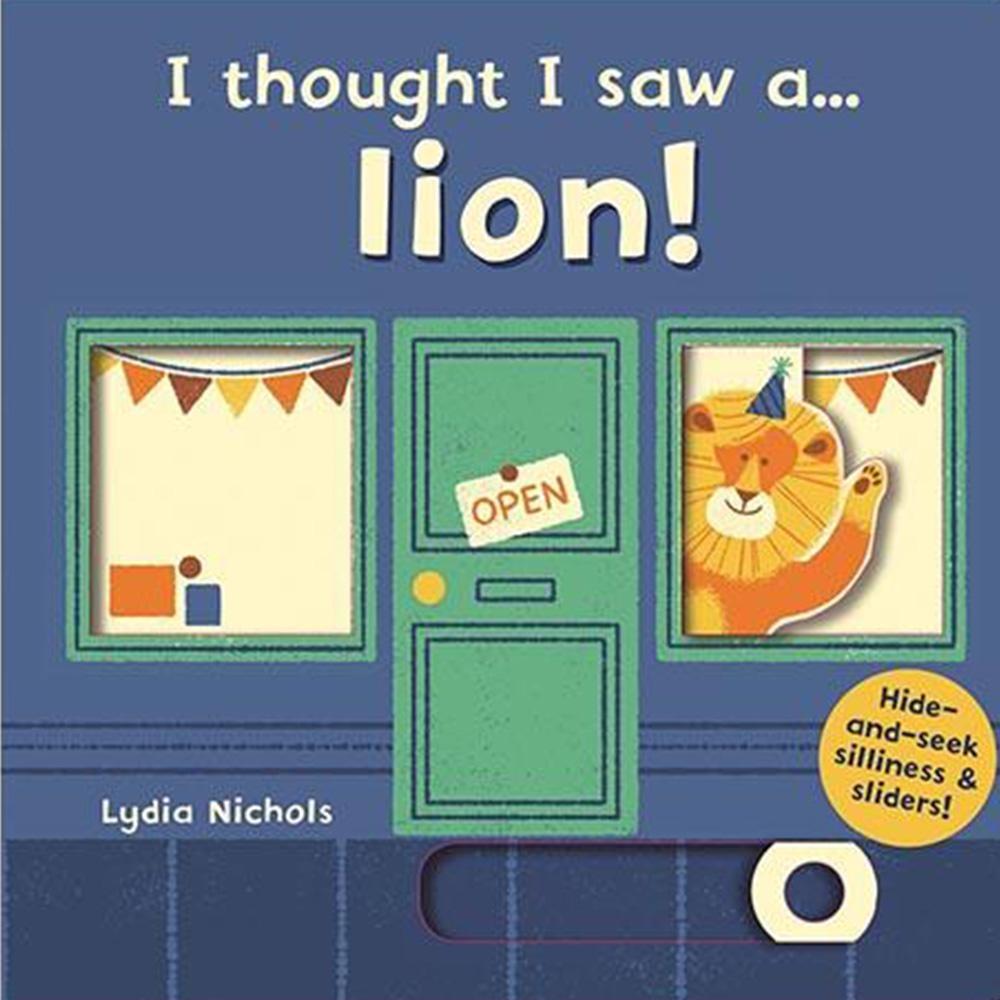 I Thought I Saw A...Lion! 獅子玩捉迷藏硬頁操作書