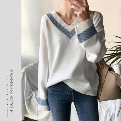 2F韓衣-簡約時尚V領造型上衣-2色(S-L)