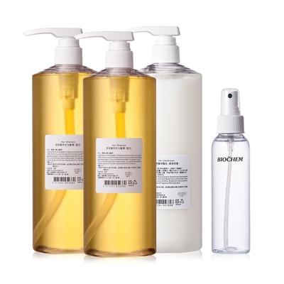 BIOCHEM倍優 玻尿酸無味洗髮精(透明) 950ml*2+玻尿酸潤髮乳(柔順修復)  950ml*1+保加利亞玫瑰水120ml