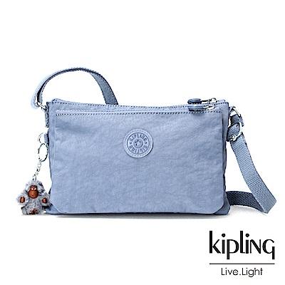 Kipling紫羅蘭灰素面側背包小
