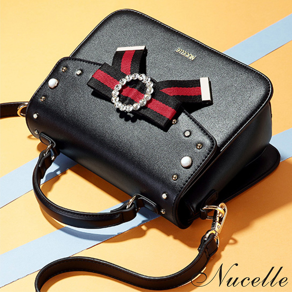 Nucelle 奧莉薇俏麗手提兩用包 時尚黑