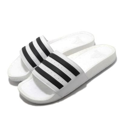 adidas 拖鞋 Adilette Boost 男女鞋 愛迪達 緩震 日常 外出 基本款 情侶鞋 白 黑 FY8155