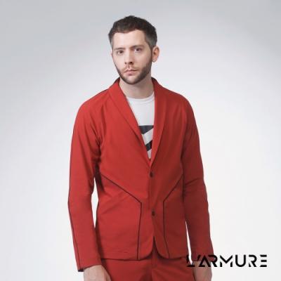 L ARMURE 男裝 男士彈性西裝外套 (紅褐色)