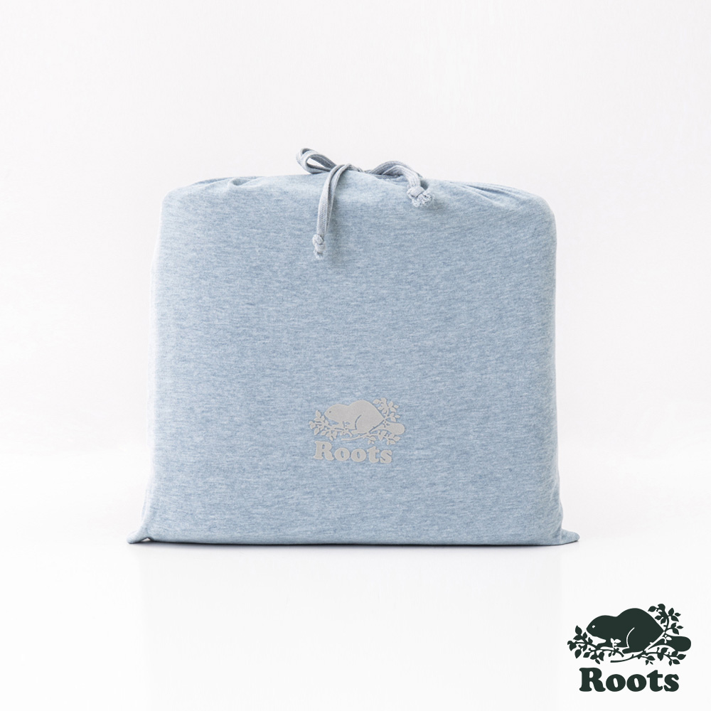 ROOTS有機棉雙人床包-藍 product image 1