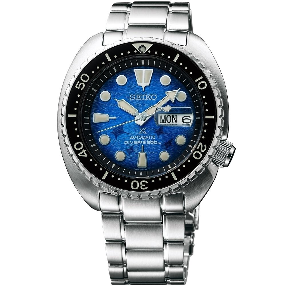 SEIKO 精工 Prospex 愛海洋 魟魚 200米潛水機械錶-45mm(SRPE39J1/4R36-06Z0U)