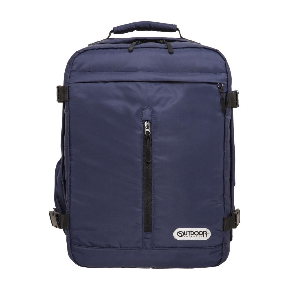 【OUTDOOR】悠遊寰旅-15.6吋後背包-深藍斜紋 OD281102NYN