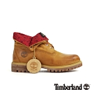 Timberland 男款小麥色印花翻折兩穿皮靴|A23ZA