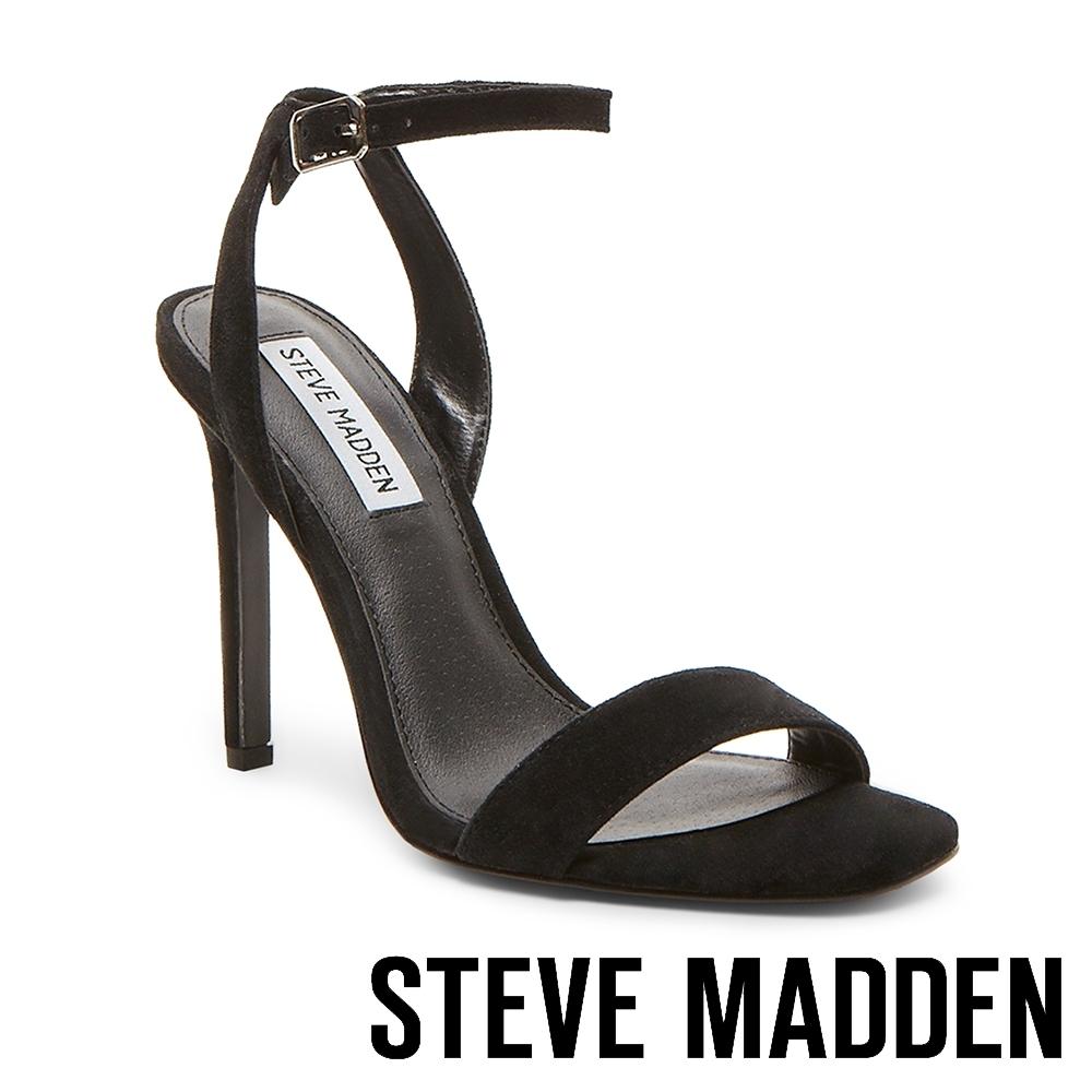 STEVE MADDEN-LATE 一字帶細高跟涼鞋-黑色