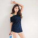 台灣製造~Scafe冰咖啡紗抗UV涼感後背微縷空上衣-OB嚴選